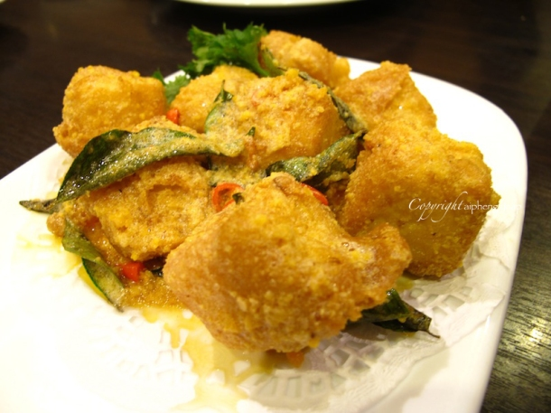 Salted egg deep fried tofu | The Trishaw