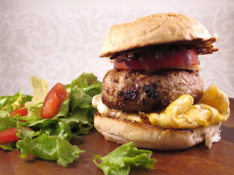 Pork and apple burger ~ The Trishaw