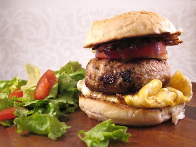 Pork and apple burger   The Trishaw