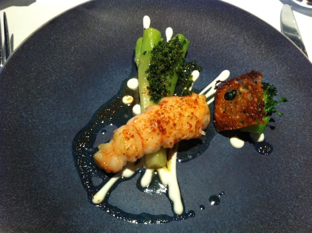 Scottish Langoustine with Natural Yoghurt, Broccoli Stem