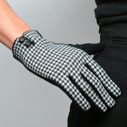Tweed gloves
