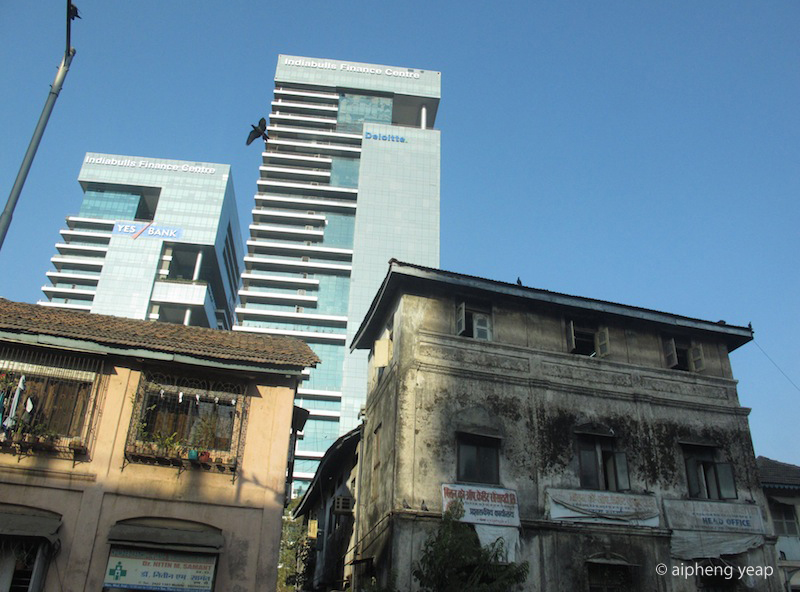 Contrast of Mumbai buildings | The Trishaw