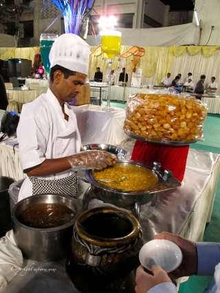 The pani puri section