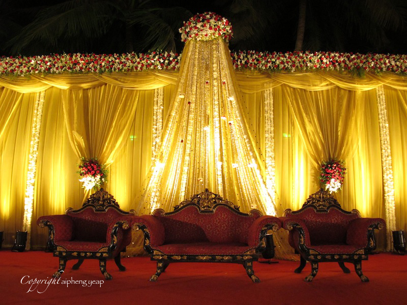 Wedding reception stage  The Trishaw