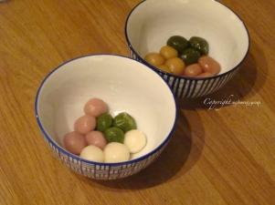 Tang yuan (glutinous rice dumplings)