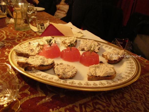 Rhubarb Jelly with Mackerel pate | The Trishaw