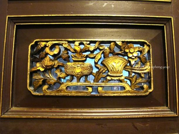 Peranakan wooden door carving | The Trishaw