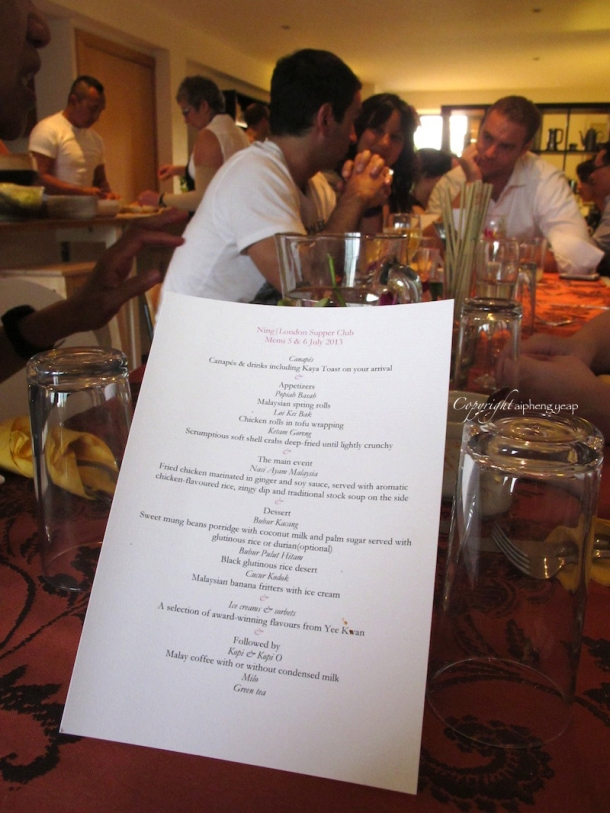 Supperclub menu   The Trishaw