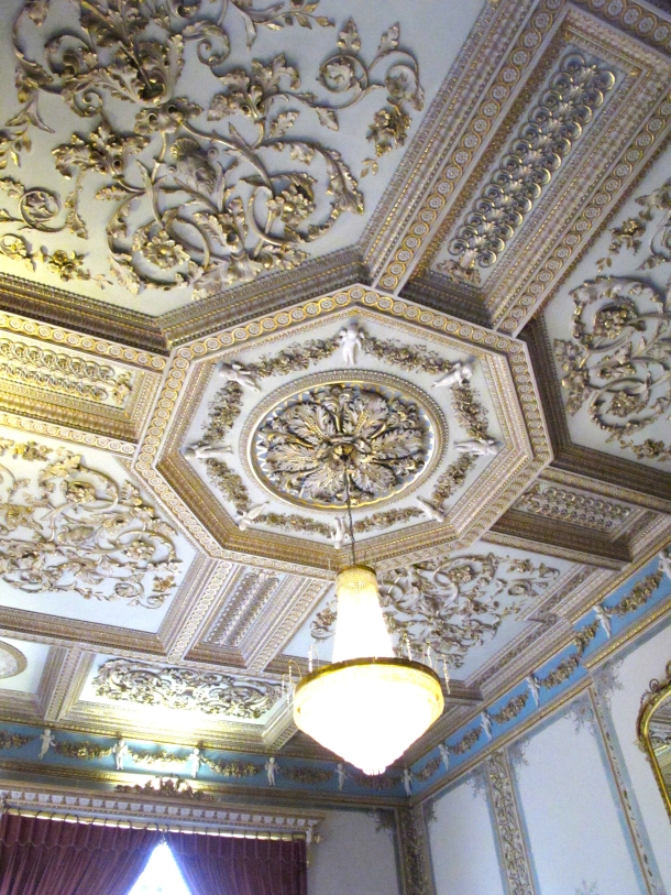 Hylands House ceiling