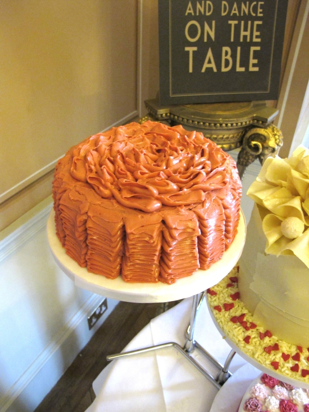Rose Lychee Raspberry ruffled cakes