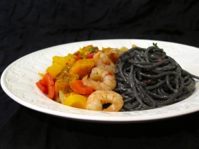 Halloween Black and Orange Pasta
